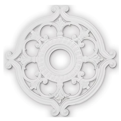 "Livex Lighting Buckingham White Ceiling Medallion - 23.5"" dia. x 1.5"" h"