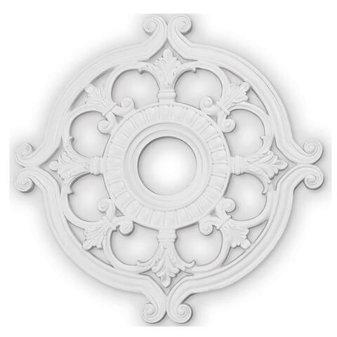 """Livex Lighting Buckingham White Ceiling Medallion - 23.5"""" dia. x 1.5"""" h"""