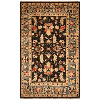 Handmade Vegetable Dye Oushak Wool Rug (Afghanistan) - 2' x 3'4