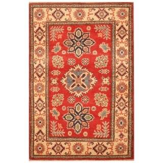 Handmade Kazak Wool Rug (Afghanistan) - 3'1 x 4'9