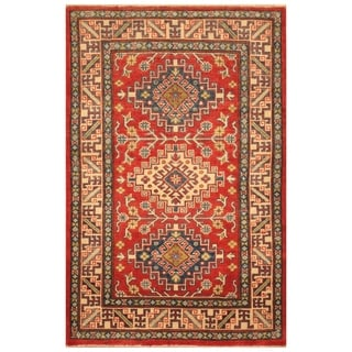 Handmade Kazak Wool Rug (Afghanistan) - 3'2 x 4'10