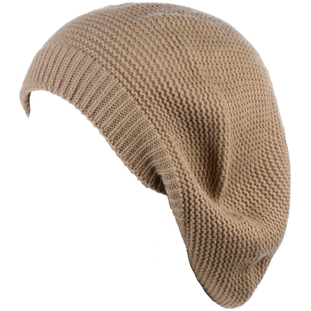 nouvelle saison Quantité limitée professionnel de la vente à chaud BYOS Chic French Style Lightweight Soft Slouchy Knit Beret Beanie Hat in  Solid