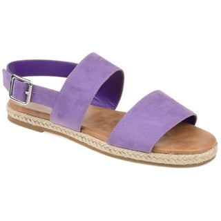 Journee Collection Women's Georgia Faux Suede Casual Flat Sandals
