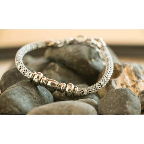 A Stainless Steel White Mesh Bracelet