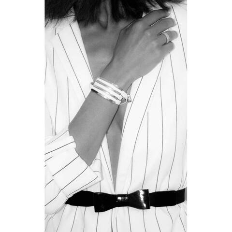 A Beautiful 3 White Leather Straps Bangle