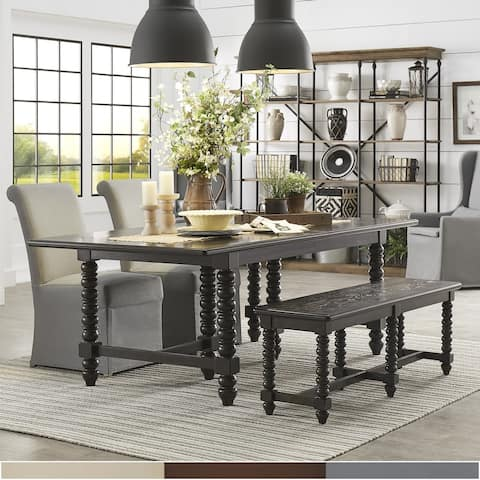 Copper Grove Homburg Dark Espresso 6-piece Extending Dining Set with Bench