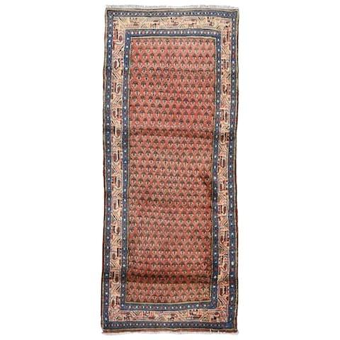 """Vintage Semi Antique Persian Hamadan Rug - 2'8"""" x 6'10"""""""