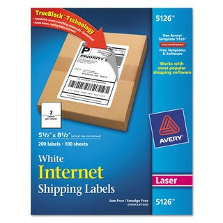 Avery Dennison 5126 White Shipping Labels (Case of 200)