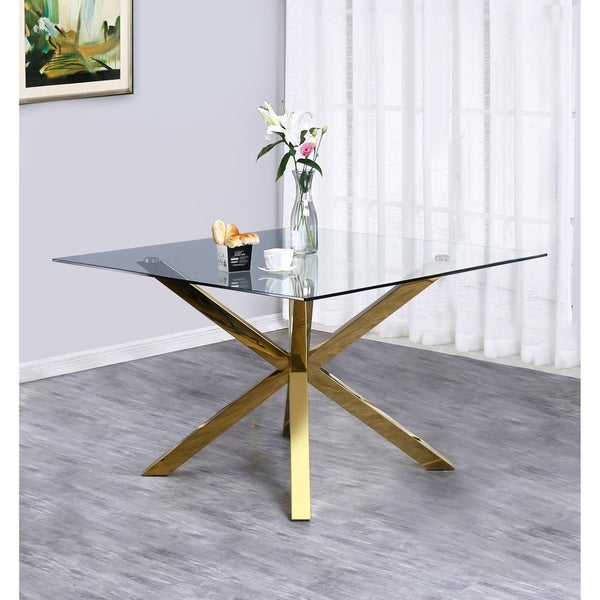 Shop Best Quality Furniture Contemporary Gold Metal And