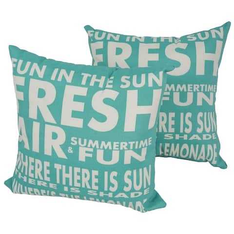 Solarium Fun in the Sun 17-inch Indoor/Outdoor Throw Pillows (Set of 2)