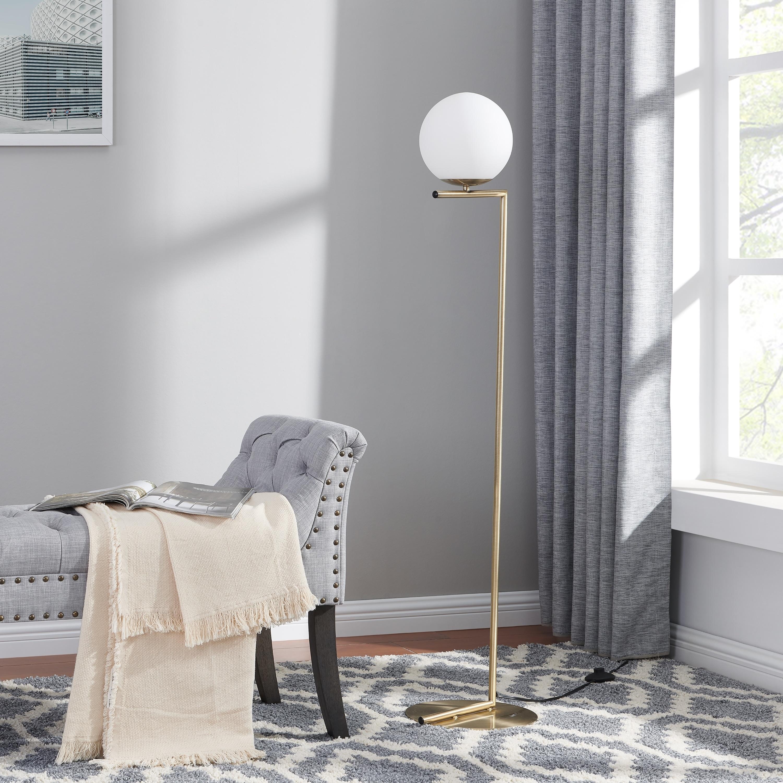 Carson Carrington Tova Brass Mid Century Modern Floor Lamp Overstock 26279724