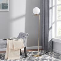 Carson Carrington Lemmenjoki Brass Mid-century Modern Floor Lamp