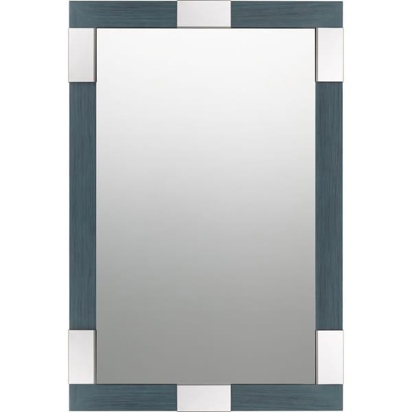 Quoizel Pelican Blue Rectangular Wall Mirror