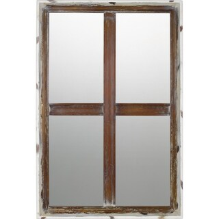 Quoizel Decherd Brown Rectangular Wall Mirror