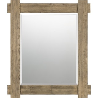 Quoizel Safford Brown Rectangular Wall Mirror