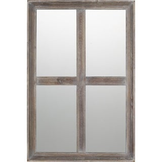 Quoizel Ammon Brown Rectangular Wall Mirror