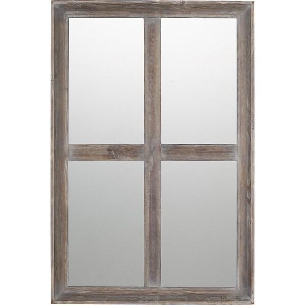 Quoizel Ammon Brown Rectangular Wall Mirror