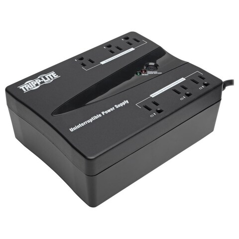 Tripp Lite UPS 350VA 180W Desktop PC / MAC Battery Back Up Compact 12