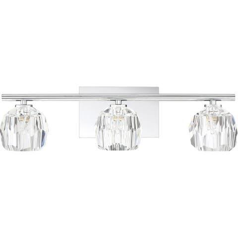 Quoizel Regalia Polished Chrome 3-light Vanity Light