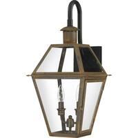 Quoizel Rue De Royal Industrial Bronze 2-light Outdoor Wall Lantern