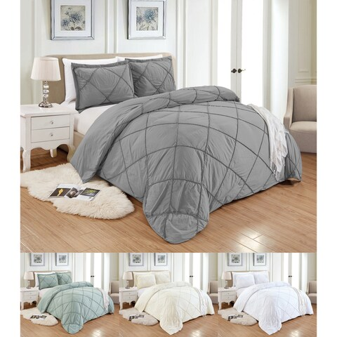 PCHF Knotted Diamond 3-piece Polyester Duvet Set