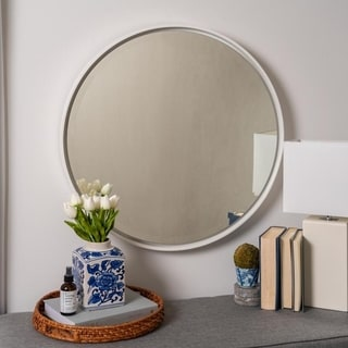 Carson Carrington Carrowdore Round White Wall Mirror