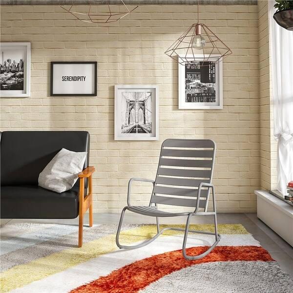 Fantastic Shop Novogratz Poolside Collection Roberta Outdoor Rocking Unemploymentrelief Wooden Chair Designs For Living Room Unemploymentrelieforg