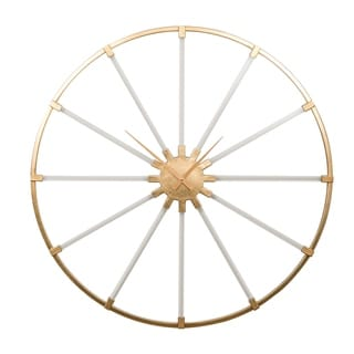 The Curated Nomad Balance Round Spokes Clock