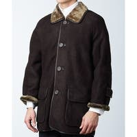 Brown Spanish Merino Shearling Sheepskin Half Coat