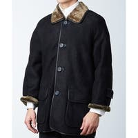 Black Spanish Shearling Sheepskin Half Coat