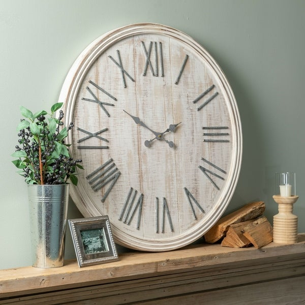 Shop The Gray Barn Jartop White Round Wall Clock Free