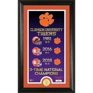 "Clemson Tigers 3-Time National Champions ""Legacy"" Bronze Coin Photo Mint"