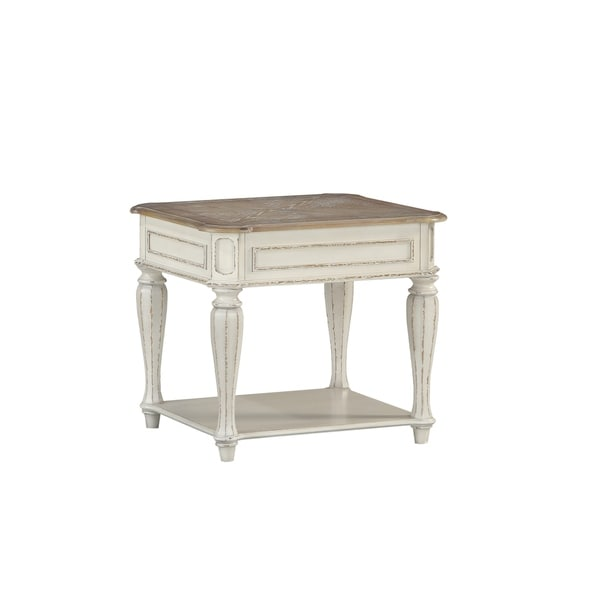 Standard Furniture Stevenson Manor White Wood End Table
