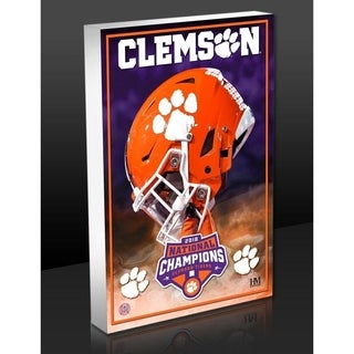 Clemson Tigers 2018 Football National Champions Art Block