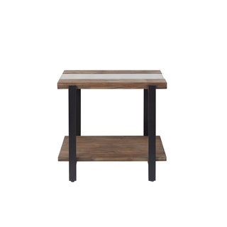 Standard Furniture Dumont Brown Mahogany End Table
