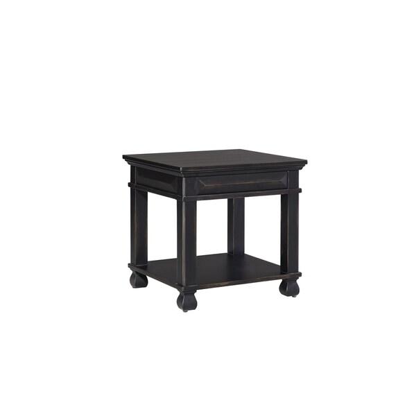 Standard Furniture Passages Vintage Black Wood End Table