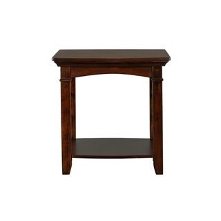 Standard Furniture Glasgow Rectangle End Table, Dark Cherry Brown