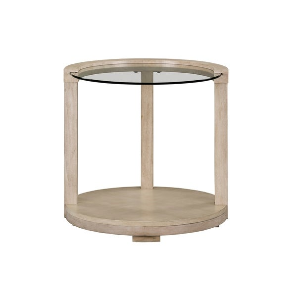 Standard Furniture Cleo Round End Table, White