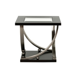 Standard Furniture Melrose End Table with Casters, Brown