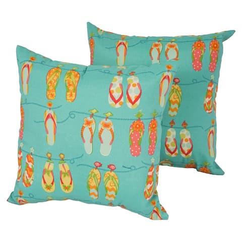 Solarium Breeze 18-inch Indoor/Outdoor Throw Pillows (Set of 2)