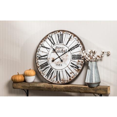 The Gray Barn Jartop Round Wall Clock