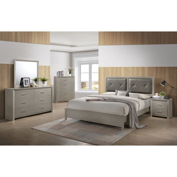 Best Quality Furniture Champagne Metallic 5 Piece Bedroom Set With Chest Free Shipping Today 26280478