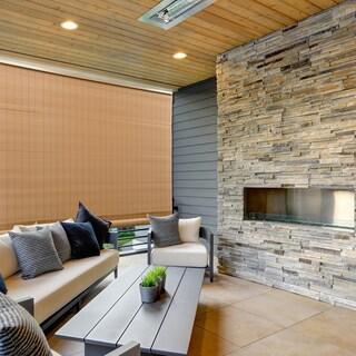 Radiance 72-inch Length Woodgrain Outdoor PVC Shade