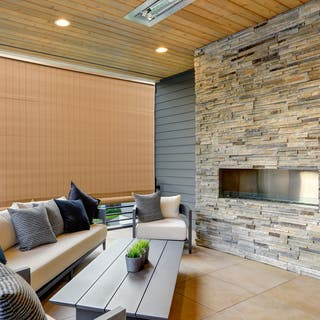Radiance 72-inch Length Woodgrain Outdoor PVC Shade
