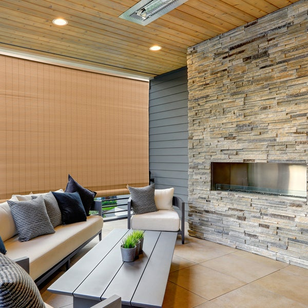 Radiance 72-inch Length Woodgrain Outdoor PVC Shade. Opens flyout.