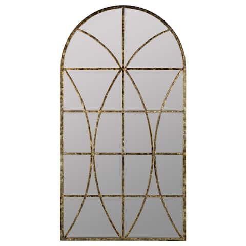 Copper Grove Etropole Windowpane Arch Wall Mirror