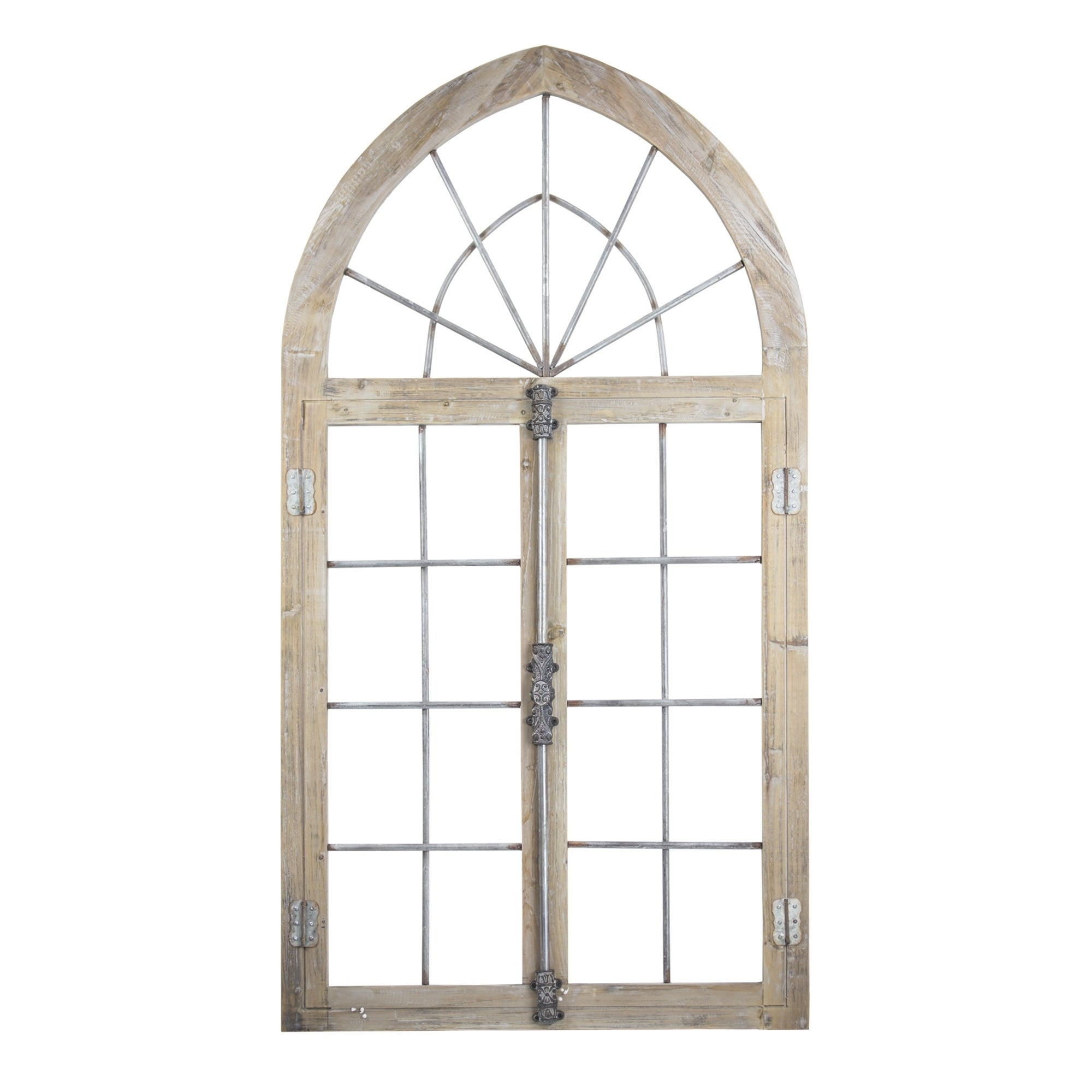 Wood And Metal Arched Window Door Wall