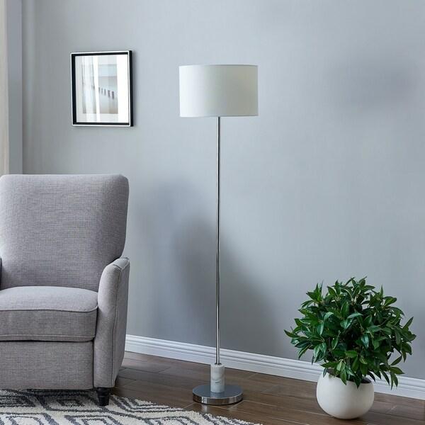 Porch & Den Quivas Chrome Floor Lamp