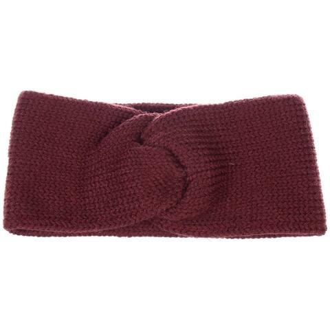 BYOS Women's Winter Chic Solid Knotted Crochet Knit Headband Turban Ear Warmer