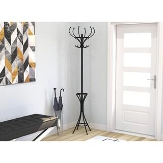 Coat Rack/Coat Stand/Hanger Stand/Coat Tree-Black Metal/Free Standing